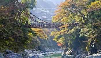 Iya valley and Kazurabashi vine bridge, Tokushima Prefecture