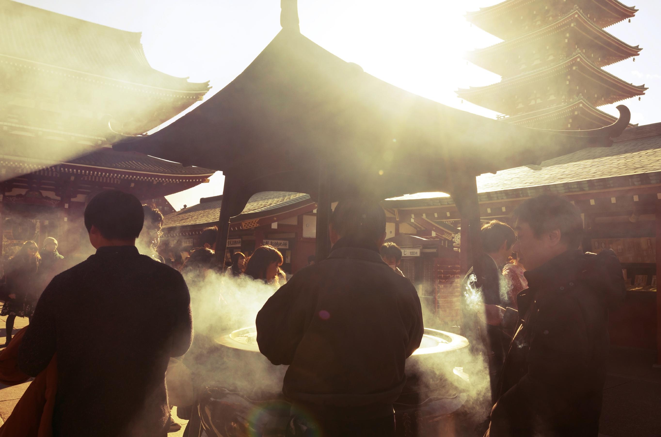 Incense at Senso-ji
