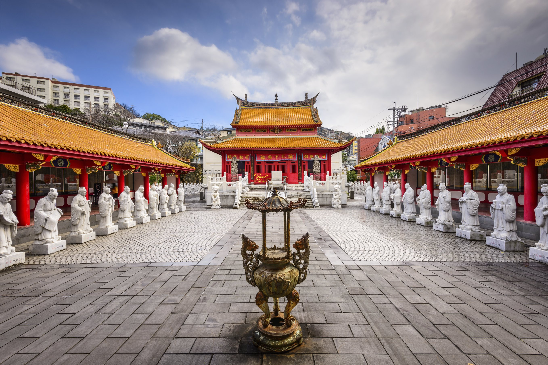 Nagasaki, Japan at Confucius Shrine.