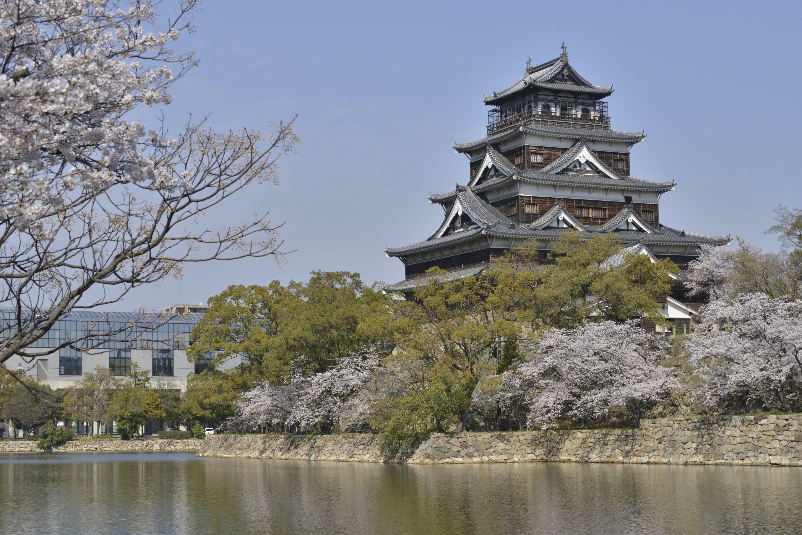 Hiroshima Castle is also known as 'Carp Castle'