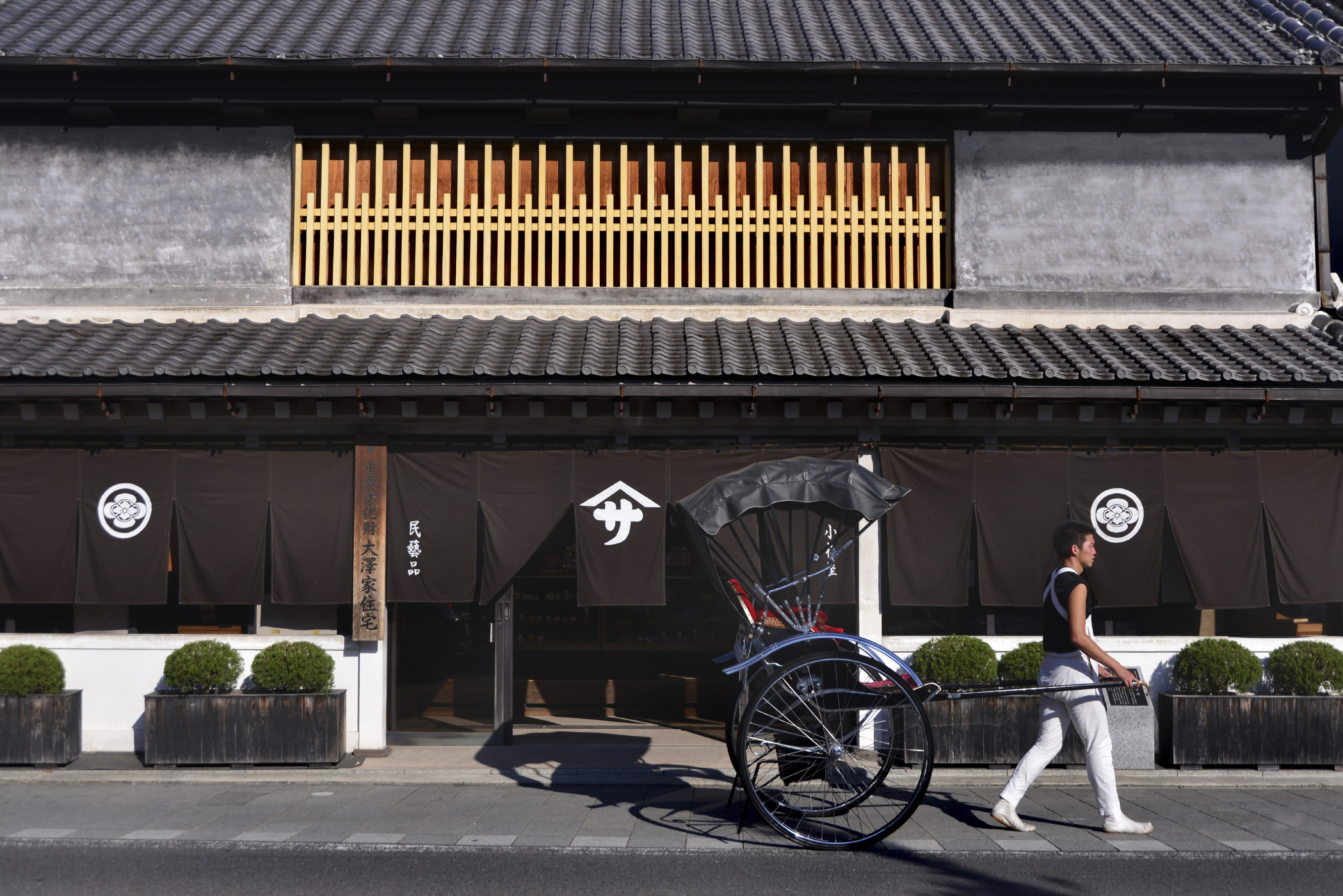 Street view of preserved house in Kawagoe