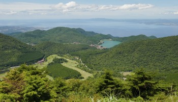 View over Mount Unzen Hot Spring - Shimabara, Nagasaki Prefecture Japan