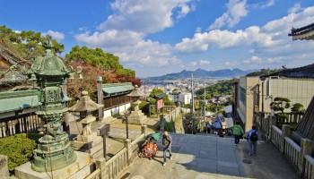 Kompira-san shrine in Kagawa Prefecture