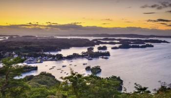 Matsushima, Japan coastal landscape from Mt. Otakamori. Miyagi Prefecture