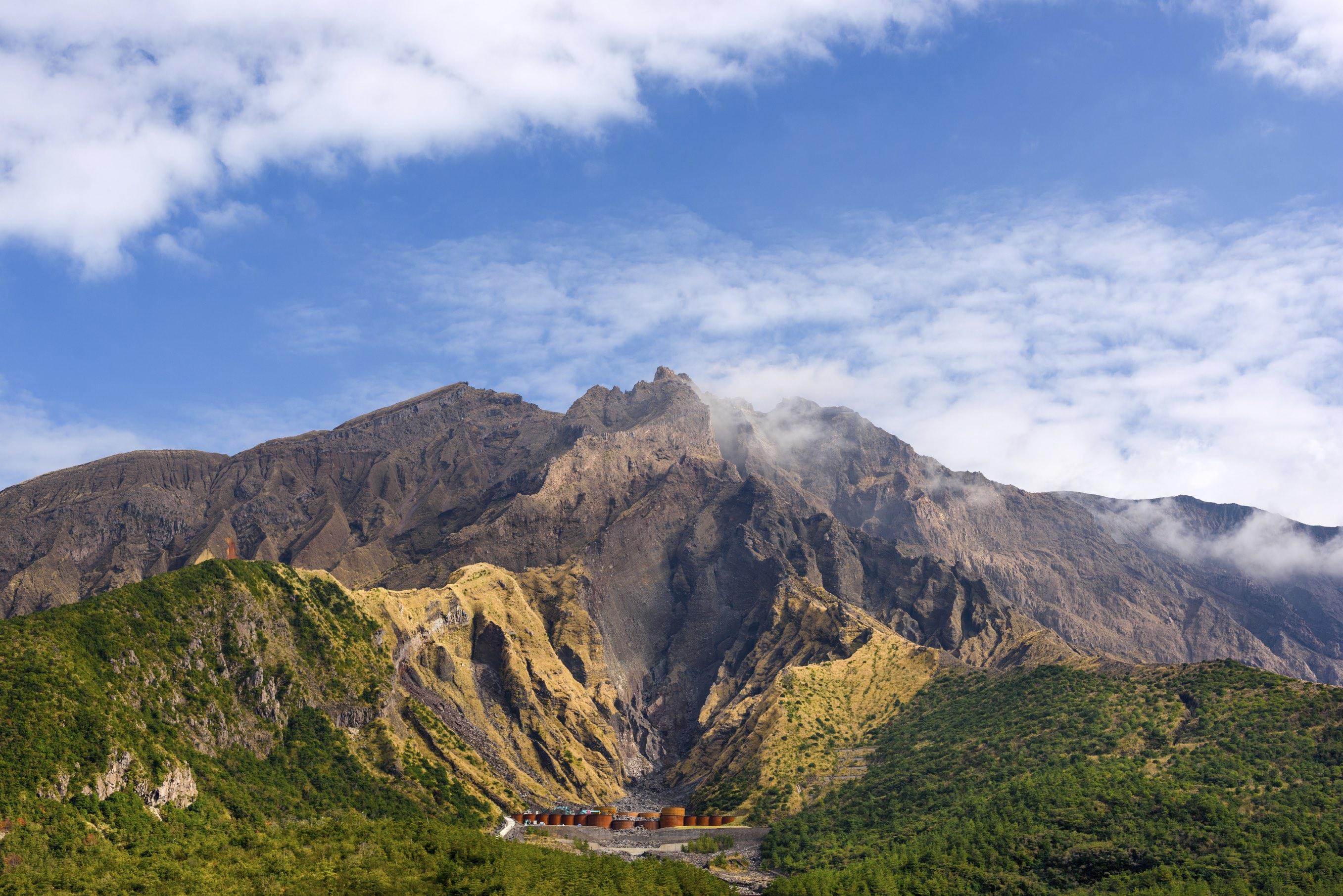 You can get up close and personal with the volcano on Sakurajima Island, Kagoshima.