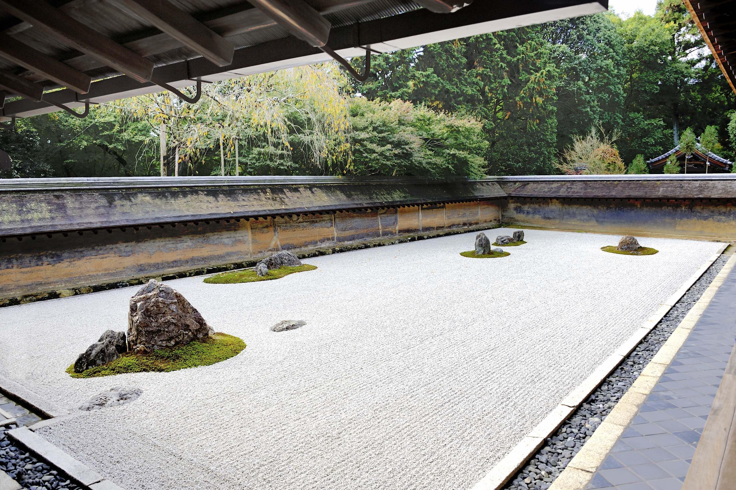 Ryoanji temple gaijinpot travel for Jardines japoneses zen