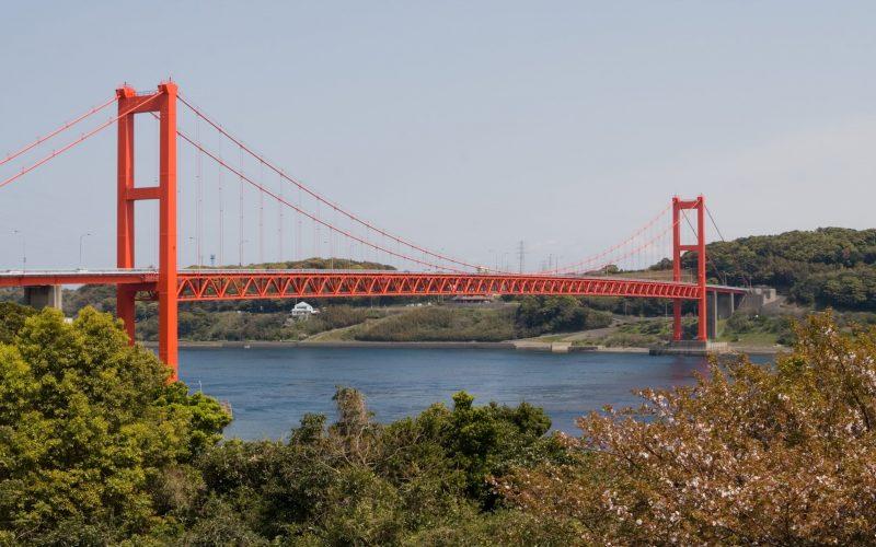 A scenic bridge heading to Hirado, Nagasaki.