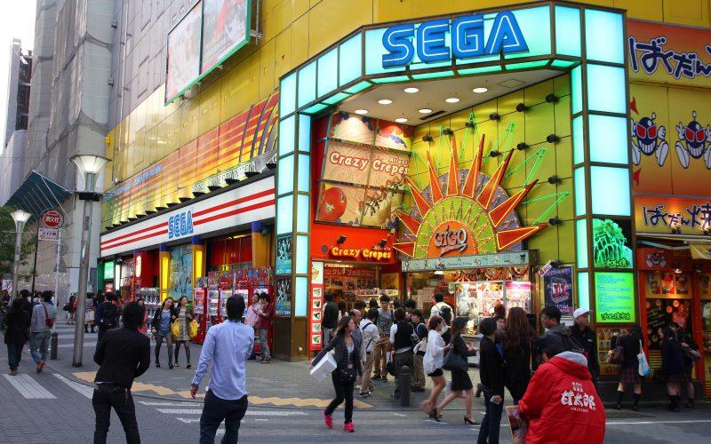 People visit Sega Ikebukuro arcade game centre on May 11, 2012 in Tokyo. Sega is a profitable company with US $4.9 billion revenue in 2011.