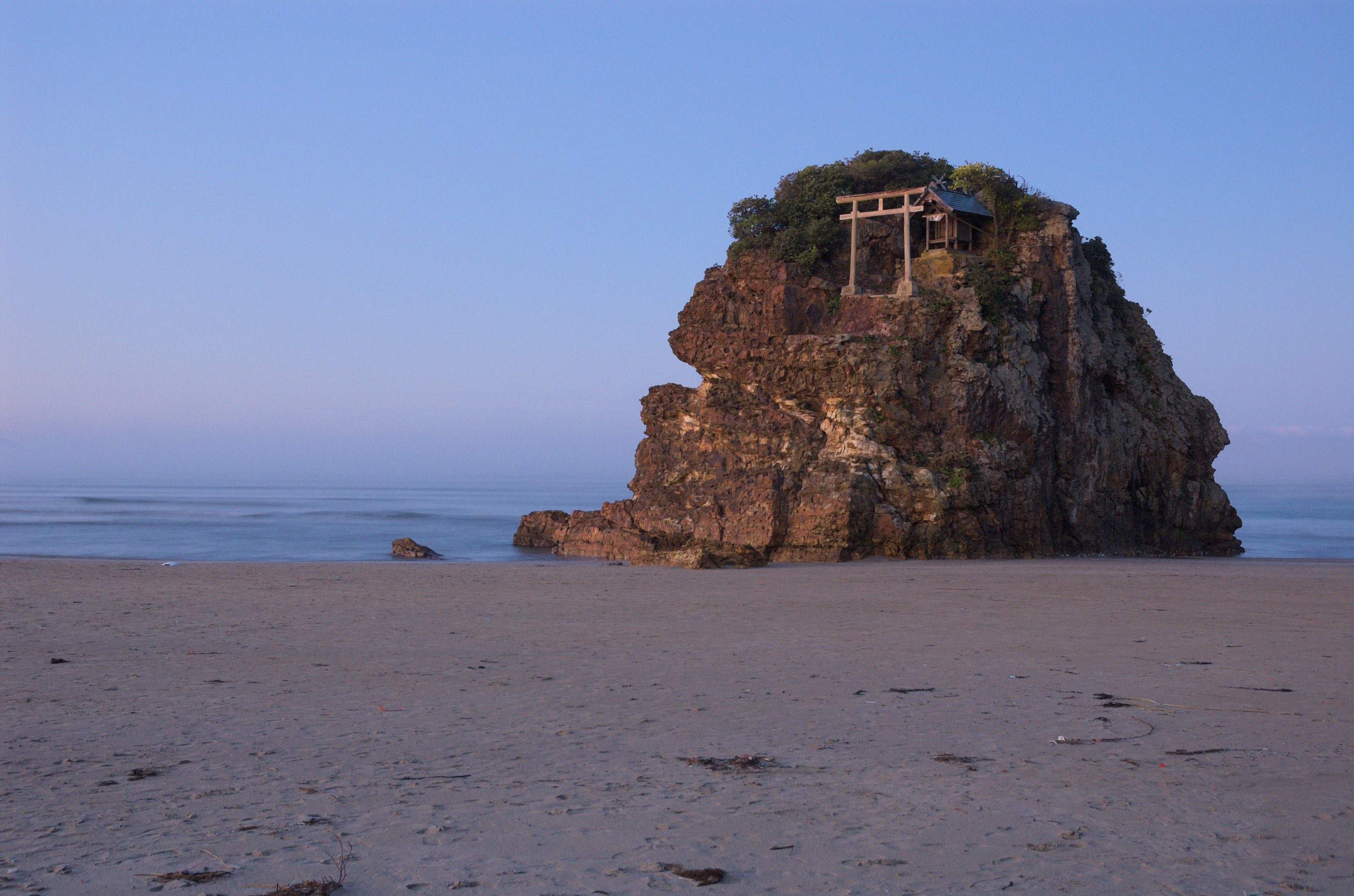 Benten-jima shrine on Inasa beach