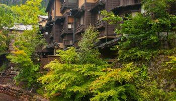 Traditional onsen village, Kurokawa, Kumamoto Prefecture, Kyushu, Japan