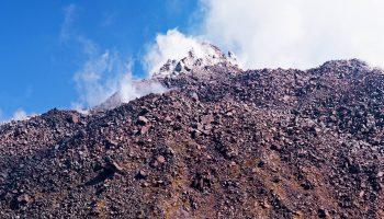 View of the volcanic summit in the Japanese resort Unzen