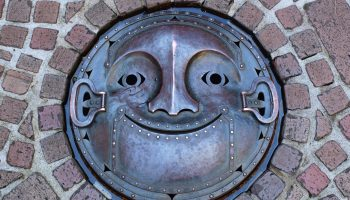Manhole cover in Ghibli museum, Tokyo-Japan.