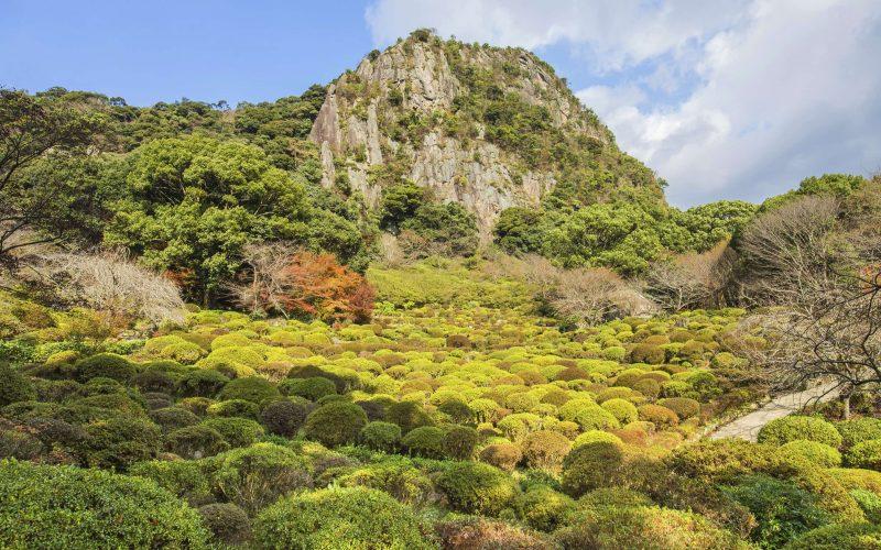Mifuneyama garden in Saga north kyushu, Japan