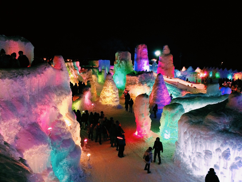 Shikotsu Ice Festival Hokkaido