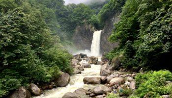 Naena Falls in Niigata.