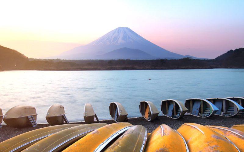 Sunrise at Lake Shojiko